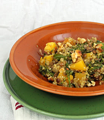 Quinoa and Lentils w Butternut Squash and Rapini -ZD 2